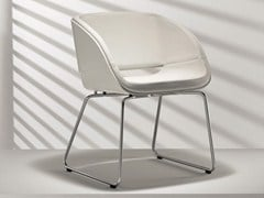 - Sled base upholstered lacquered chair D5-2 | Sled base chair - Hülsta-Werke Hüls