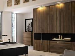 - Walnut wardrobe with built-in TV ELUMO II | Walnut wardrobe - Hülsta-Werke Hüls