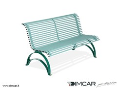 - Classic style metal Bench with back Panchina Danea - DIMCAR