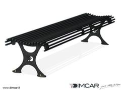 - Classic style backless metal Bench Panca Antibes - DIMCAR