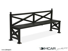 - Classic style metal Bench with back Panchina Orchidea - DIMCAR