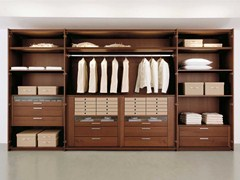 - Walnut walk-in wardrobe MULTI-FORMA II | Walnut walk-in wardrobe - Hülsta-Werke Hüls