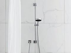 - Shower wallbar with hand shower with mixer tap FARAWAY | Shower wallbar - ZUCCHETTI