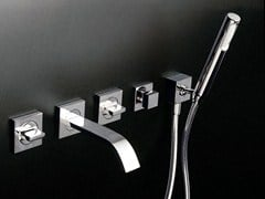 - Wall-mounted bathtub set with hand shower AGUABLU | Wall-mounted bathtub set - ZUCCHETTI