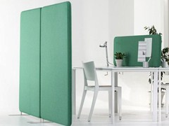 - Sound absorbing free standing workstation screen SOFTLINE | Free standing workstation screen - Abstracta