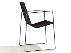 - Sled base chair with armrests LINEAL | Chair with armrests - Andreu World