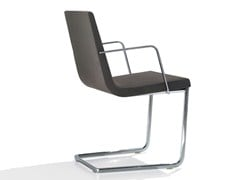 - Cantilever upholstered chair LINEAL COMFORT | Upholstered chair - Andreu World
