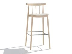 - Upholstered counter stool SMILE | Upholstered chair - Andreu World
