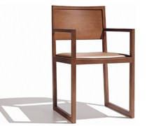 - Sled base upholstered chair ZISA | Upholstered chair - Andreu World