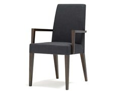 - Upholstered chair with armrests ANNA LUXE | Chair with armrests - Andreu World