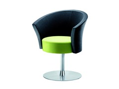 - Swivel easy chair with armrests BOB   Swivel easy chair - ROSSIN