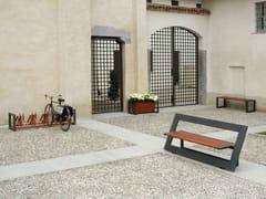 Panchina in acciaio e legno con schienaleTITTA - FRAME - A.U.ESSE