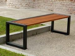 Panchina in acciaio e legno senza schienaleTITTA - LINE - A.U.ESSE