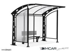 - Porch for bus stop Pensilina Acaya con pareti laterali - DIMCAR