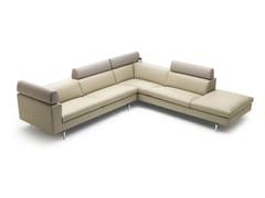 - Corner sectional leather sofa HORATIO - LEOLUX