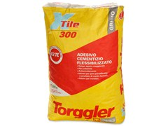 - Cement adhesive for flooring X-TILE 300 - Torggler Chimica