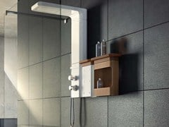- Multifunction ceramic shower panel BABELE | Wall-mounted shower panel - Glass 1989
