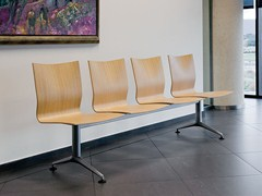 - Steel and wood beam seating IKARA | Beam seating - ACTIU