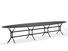 - Lacquered oval metal table ARABESQUE | Oval table - YDF