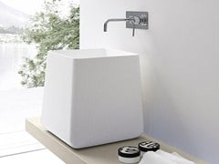 - Countertop Korakril™ washbasin with integrated countertop OPUS | Countertop washbasin - Rexa Design