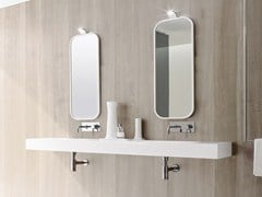 - Wall-mounted Korakril™ washbasin UNICO | Double washbasin - Rexa Design
