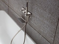 - Wall-mounted bathtub set with hand shower BREZZA | Wall-mounted bathtub set - Rexa Design
