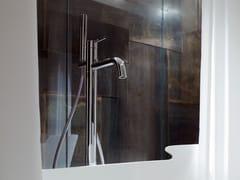 - Floor standing bathtub mixer with hand shower LIBE | Floor standing bathtub mixer - Rexa Design