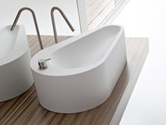 - Countertop Korakril™ washbasin with integrated countertop BOMA | Countertop washbasin - Rexa Design