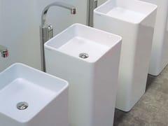 - Freestanding square single washbasin MONOWASH - CERAMICA FLAMINIA