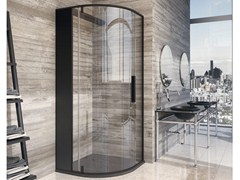 - Semicircular crystal steam shower cabin SKIN | Semicircular shower cabin - Glass 1989
