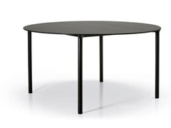 - Stackable round HPL table MONZA | Round table - Plank