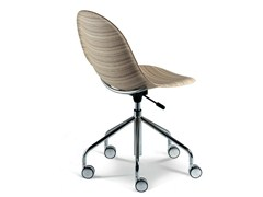 - Swivel multi-layer wood chair LUNA | Swivel chair - Plank