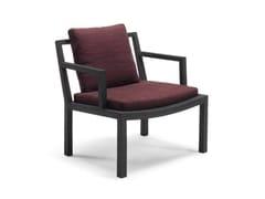 - Upholstered oak armchair GRAY - Living Divani