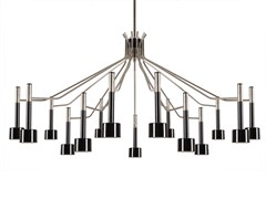 Direct light brass Chandelier ELLA | Chandelier - Delightfull