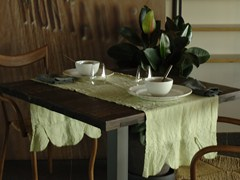 - Individual de mesa retangular de linho ONDE | Individual de mesa - LA FABBRICA DEL LINO by Bergianti & Pagliani