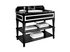 - Lacquered wooden console sink NOTTINGHAM 100 | Single Vanity unit - GENTRY HOME