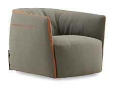 - Fabric armchair with removable cover SANTA MONICA | Fabric armchair - Poliform
