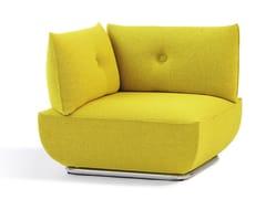 - Corner upholstered fabric armchair DUNDER | Corner armchair - Blå Station
