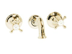 - Wall-mounted brass washbasin tap MAYFAIR | Wall-mounted washbasin tap - GENTRY HOME