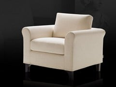 - Fabric armchair with removable cover GRETA - Milano Bedding