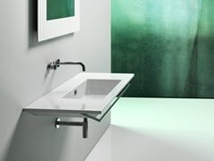 - Rectangular wall-mounted ceramic washbasin STAR 105 | Wall-mounted washbasin - CERAMICA CATALANO