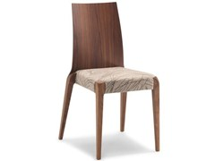 - Stackable walnut chair SENDY - CIZETA