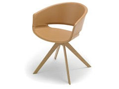 - Trestle-based wooden chair RONDA | Trestle-based chair - Andreu World