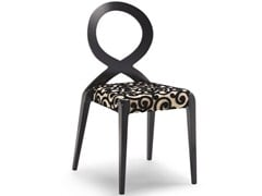 - Stackable open back fabric chair SENDY | Open back chair - CIZETA