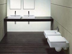- Countertop rectangular ceramic washbasin ZERO 50 | Rectangular washbasin - CERAMICA CATALANO