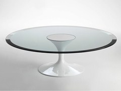 - Round glass and aluminium coffee table SA59/6 | Coffee table - Matrix International