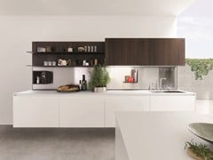 - Wooden fitted kitchen KUBIC 1 - Euromobil