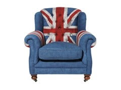 Upholstered armchair Grandfather Union Jack - KARE-DESIGN