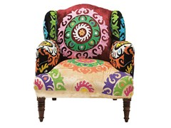 Upholstered armchair MANDALA | Upholstered armchair - KARE-DESIGN