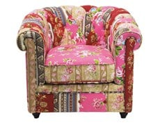 Armchair with armrests PATCHWORK | Cotton armchair - KARE-DESIGN